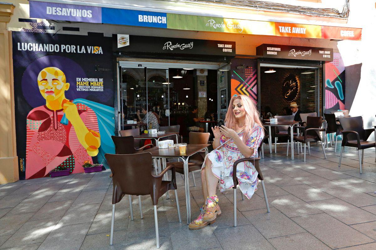 La Prohibida en el bar El Rincón Guay, en Lavapiés (Madrid).