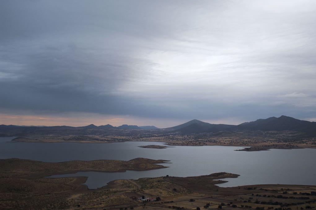 Pantano de la Serena visto desde la localidad de Capilla.