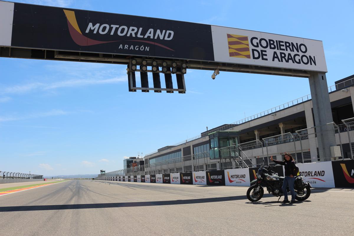 En el circuito de Motorland.