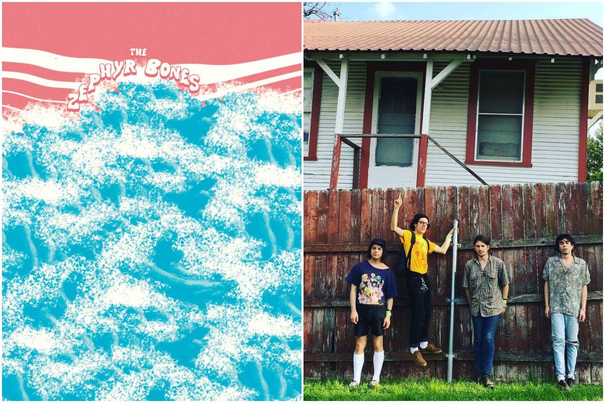 Portada del último disco de The Zephyr y una foto del grupo. Fotos: Facebook.