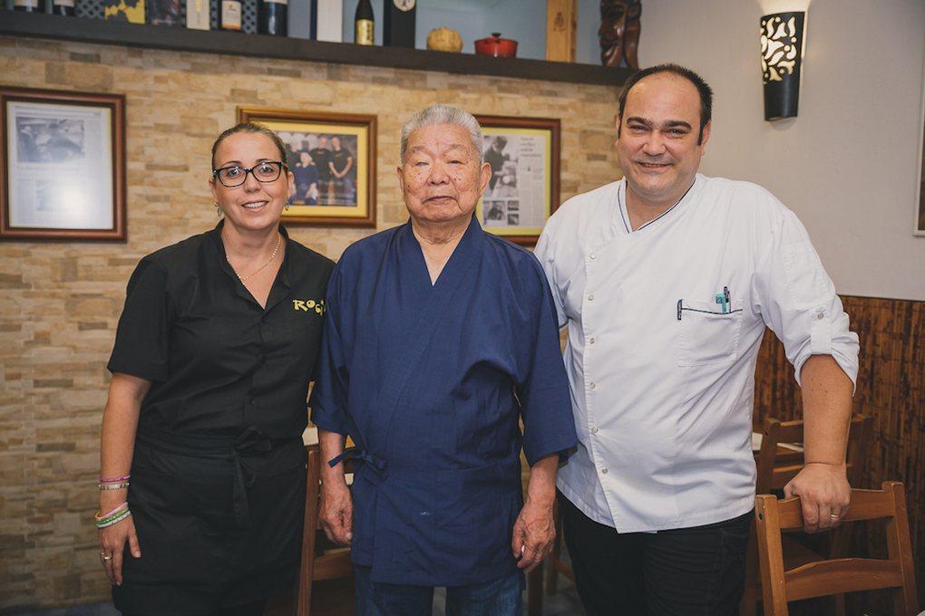 Masao Kikuchi, Juan y María José en Rocío Tapas y Sushi.