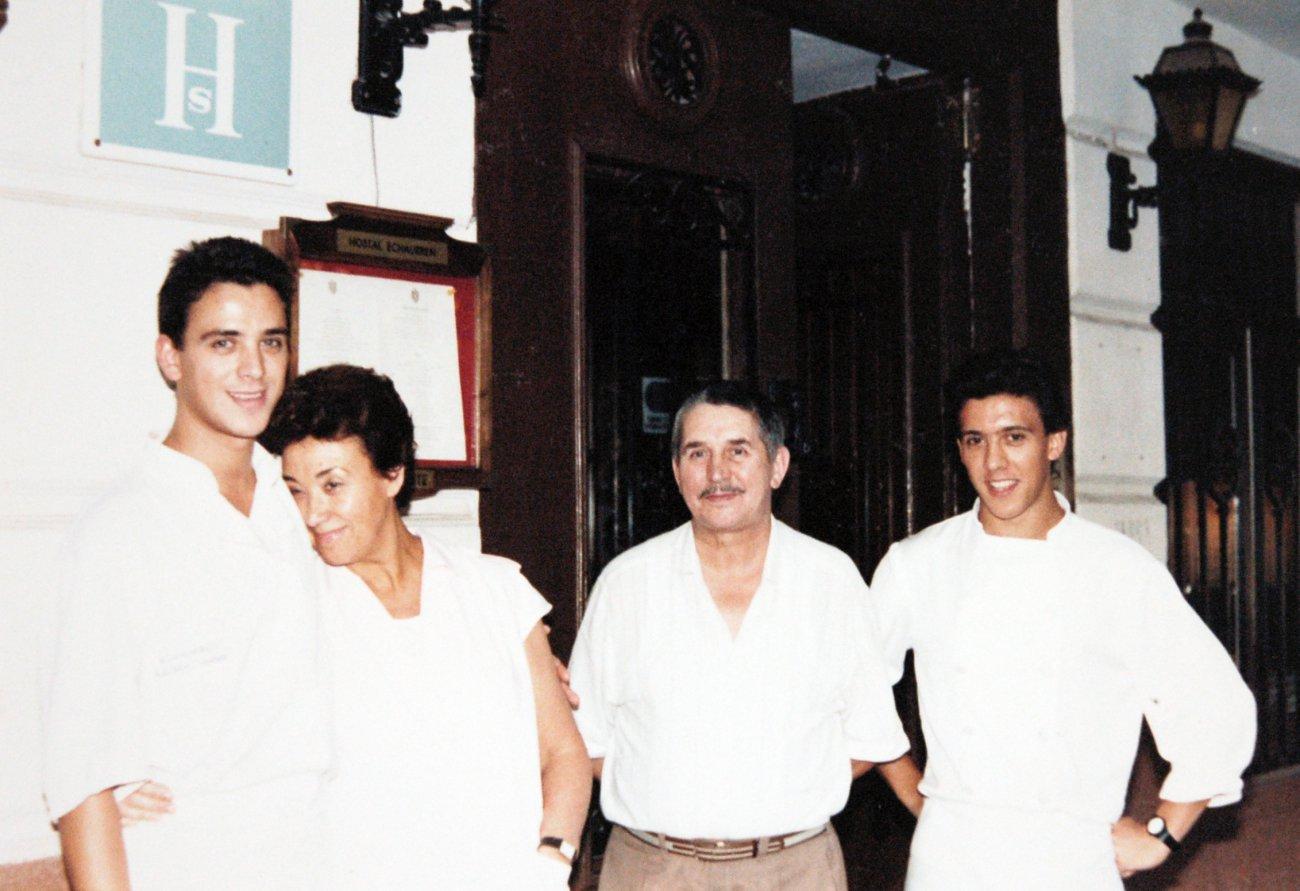 La familia Paniego-Sánchez: Luis Ángel, Marisa, Félix y Francis.