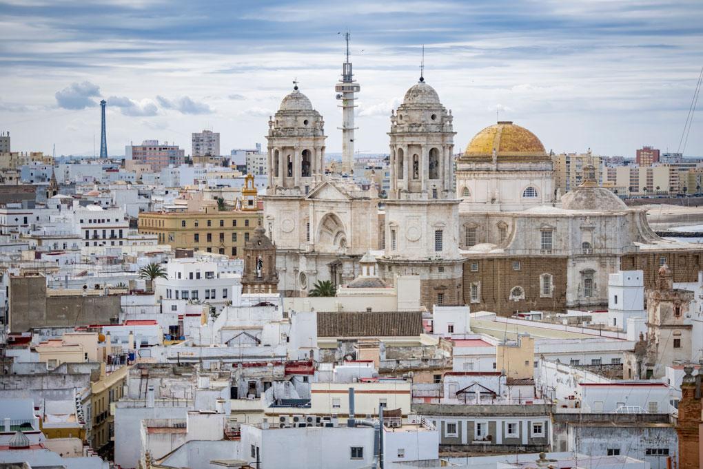 Vistas de la ciudad desde la cúspide de la Torre Tavira.