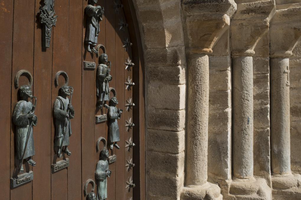 Puerta del Perdón. Rezar el padre nuestro y el credo 15 días antes y después de cruzarla conceden la Indulgencia Plenaria.