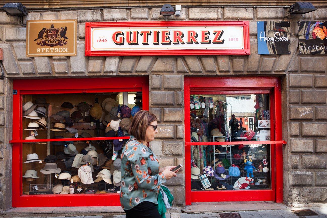 Pamplona - Tienda de boinas y sombreros