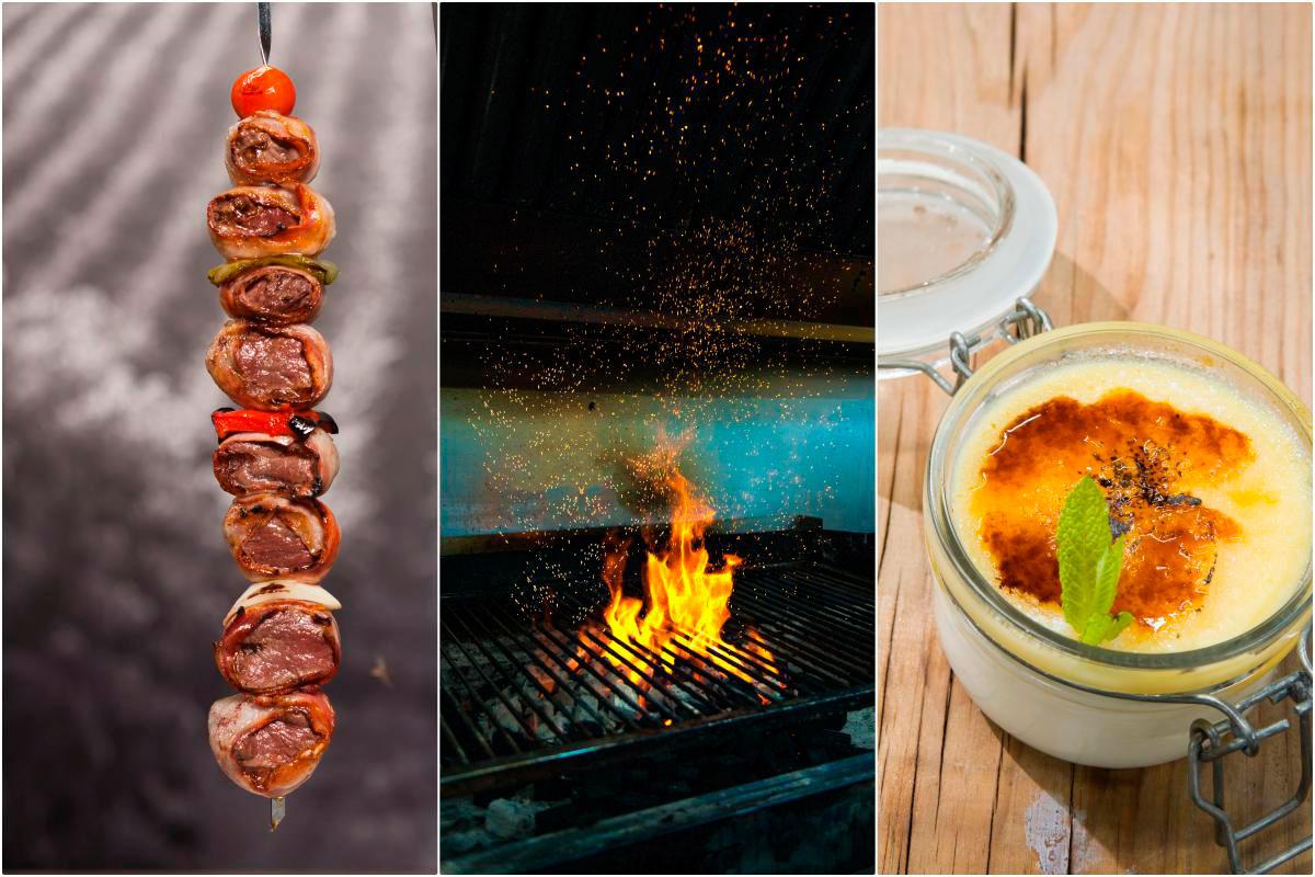 Las brochetas de solomillo son una de las maravillas del restaurante-asador. Foto: Juanjo Pascual y Josemi Rodríguez.