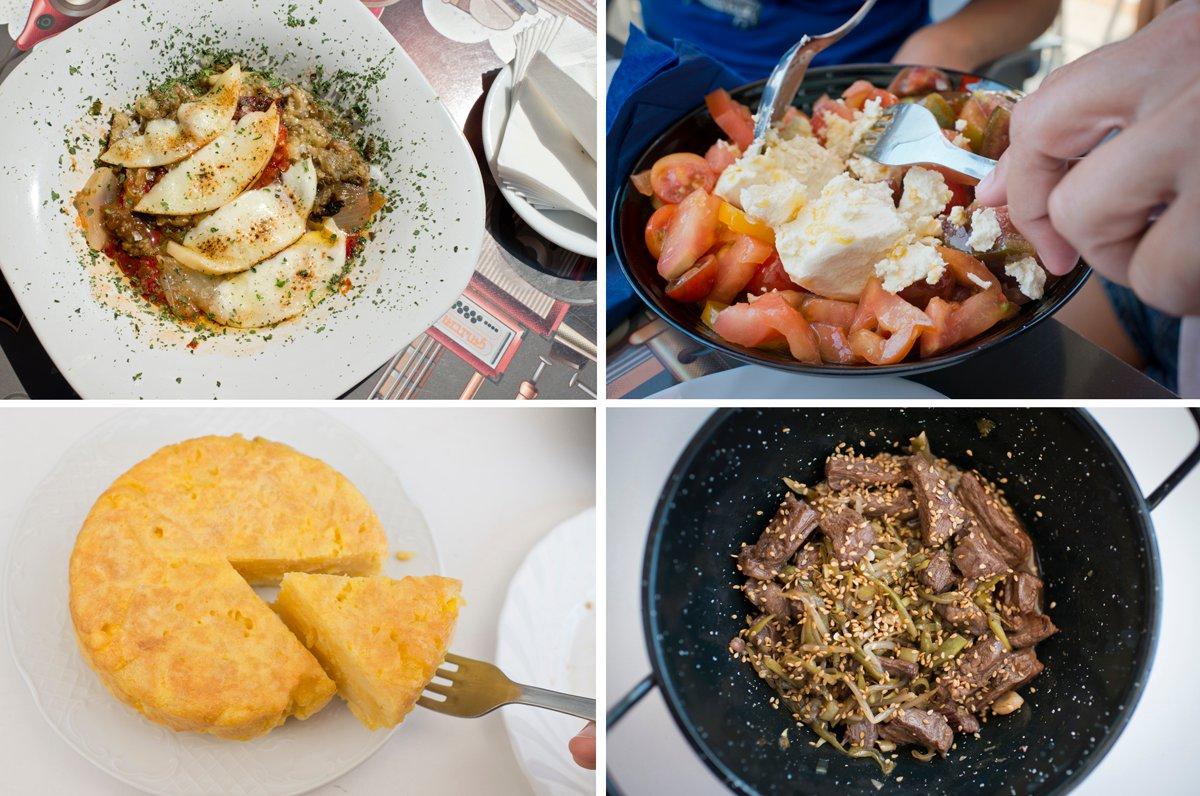 Bar Troita (Playa de Boa Grande): variedad de platos