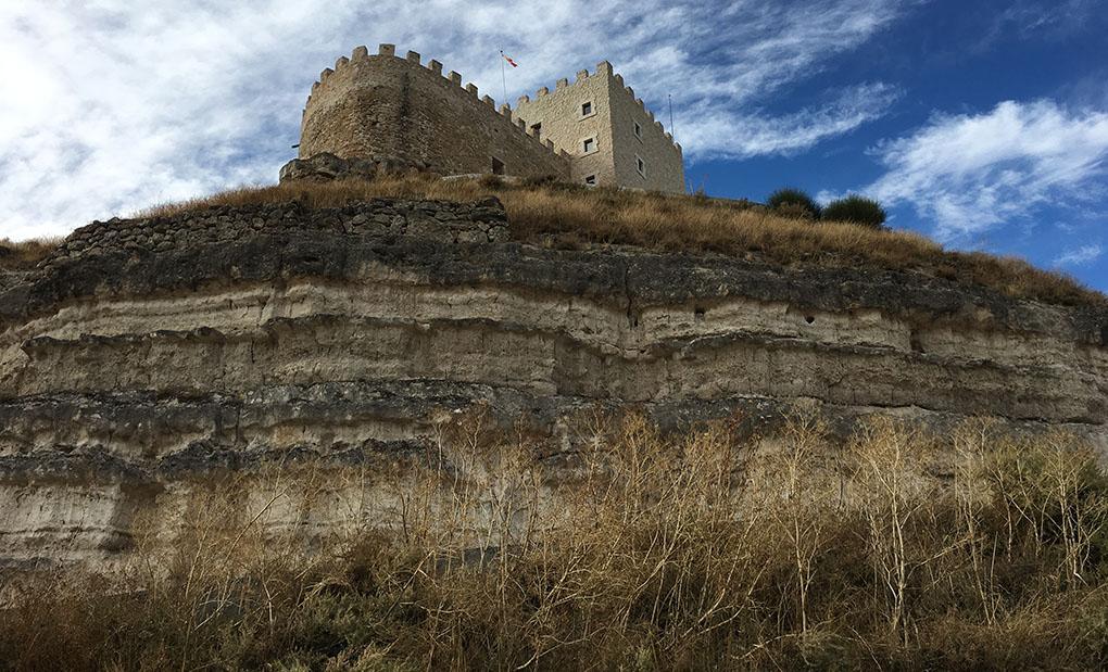 El castillo es el punto más alto de la provincia de Valladolid.