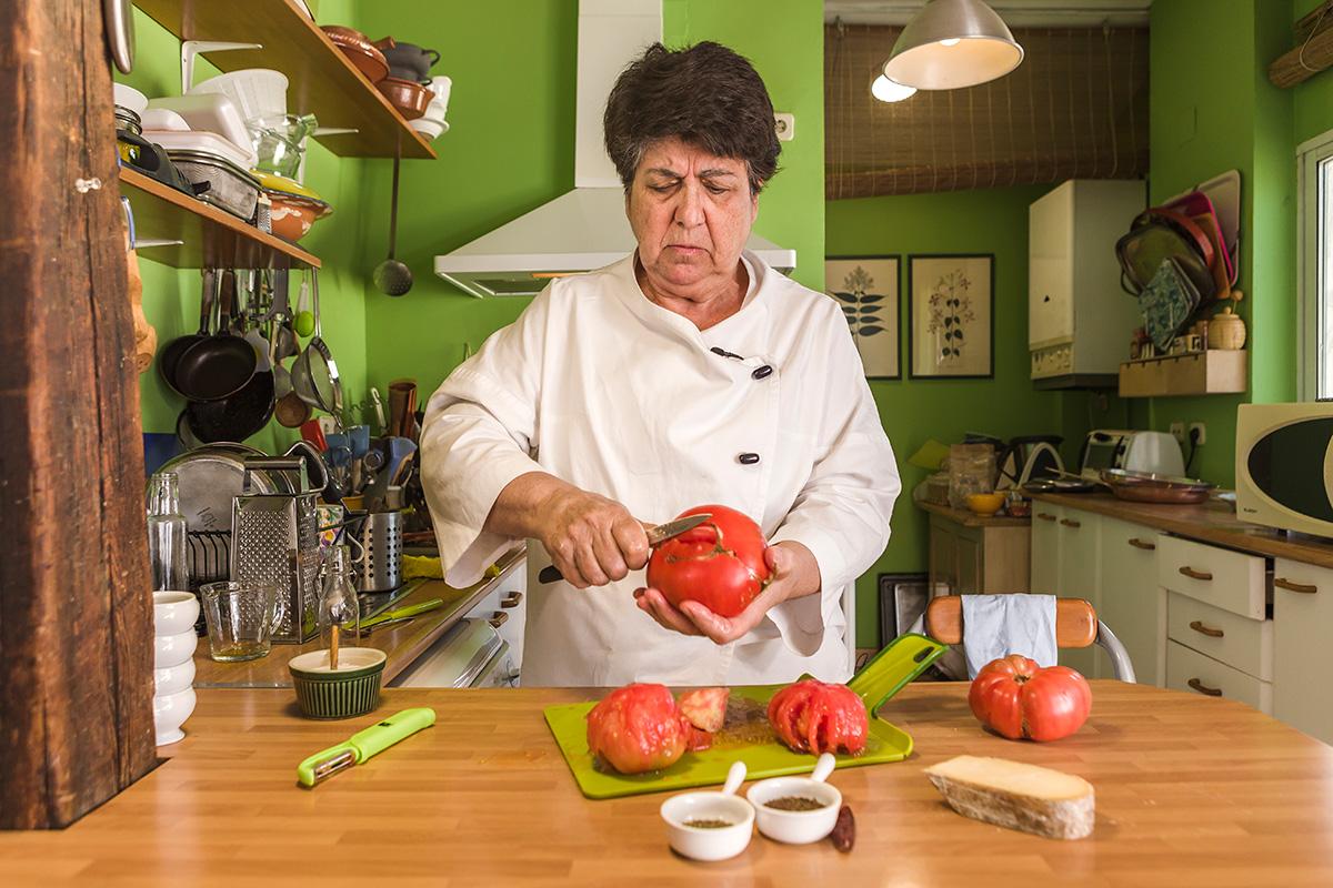 Preparando el tomate