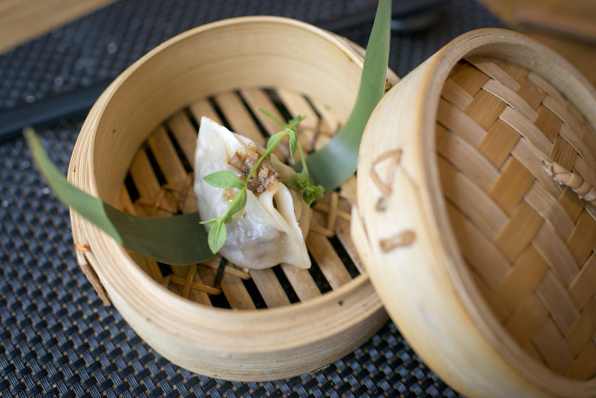 'Dumpling' de pato y trufa.