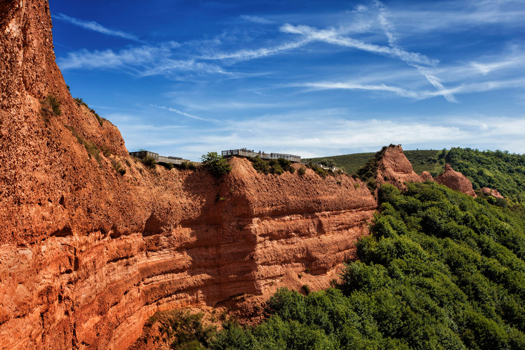 Mirador de Orellán en Las Médulas. Foto: shutterstock.com.