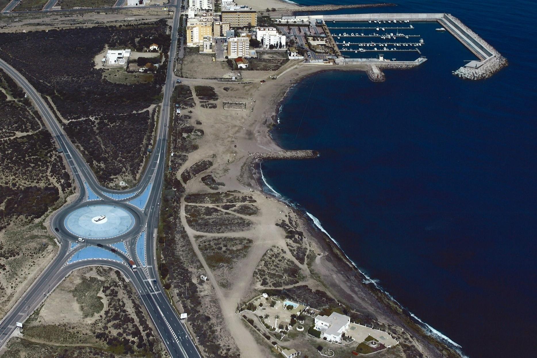 Vista aérea de la Playa Casica Verde.
