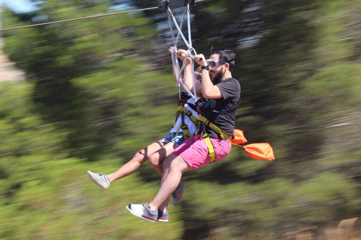 La Tirolina del Pisuerga es perfecta para adultos adictos a la adrenalina. Foto: Facebook.