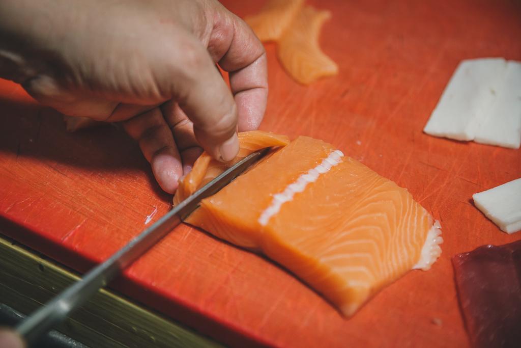 El corte del pescado, todo un arte, pero no el único secreto.