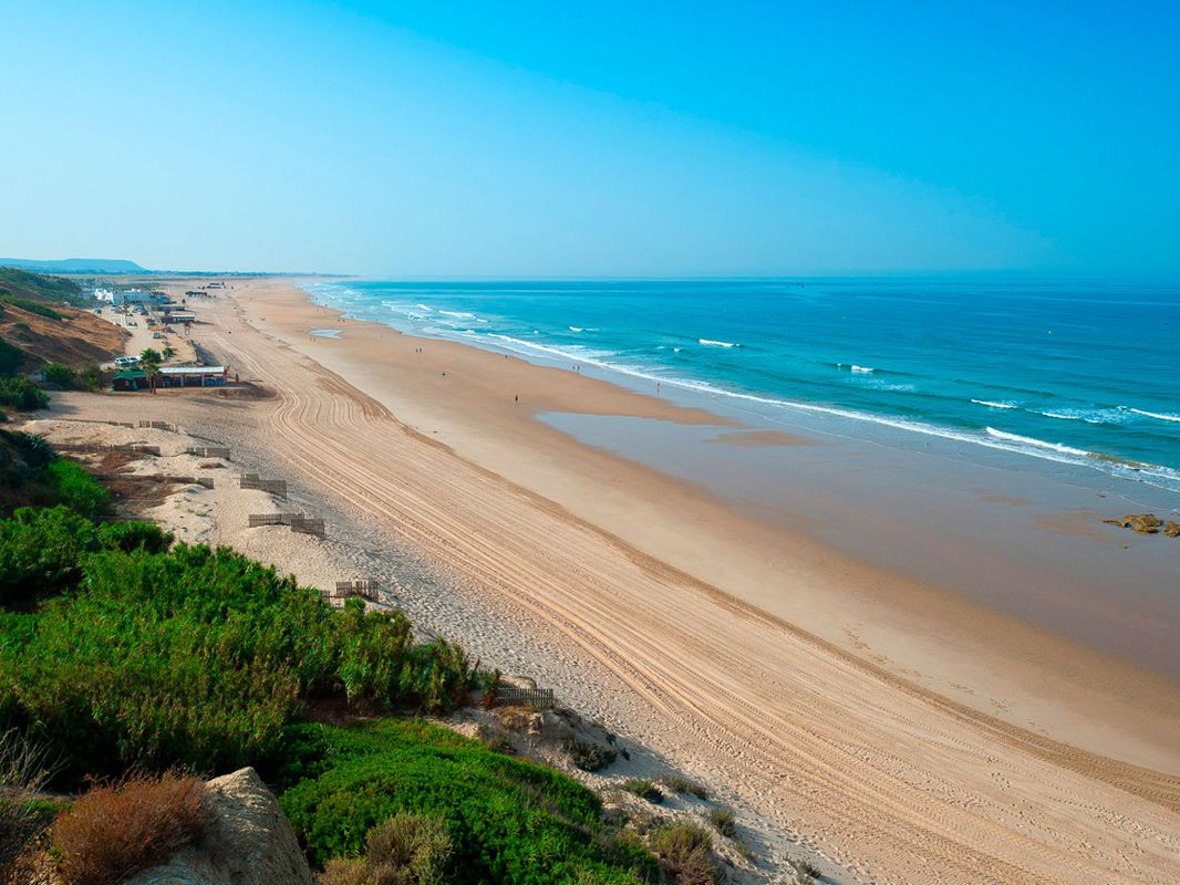 Playa de la Fontanilla, en Conil, Cádiz.