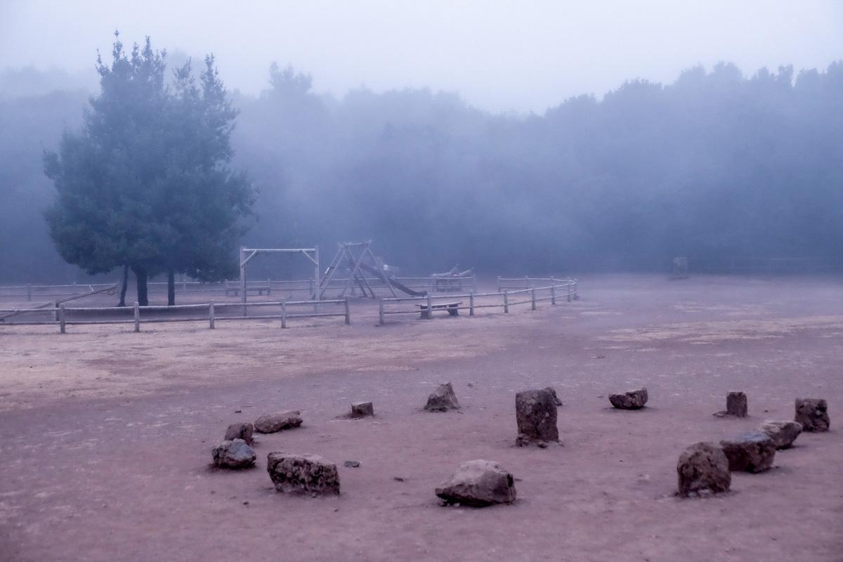 La Gomera: Niebla en Laguna Grande en el Parque Nacional de Garajonay.