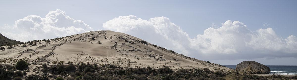 Dunas en el Parque Natural Cabo de Gata.