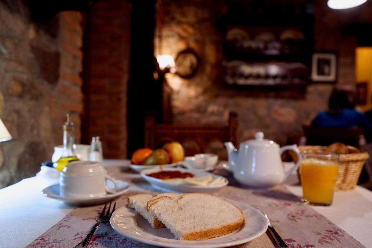 Desayuno casero en 'La Cueste'.