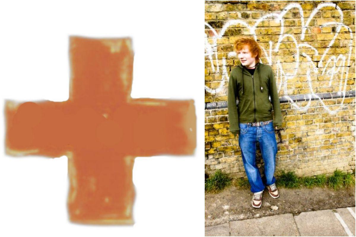 Las portadas de los discos de Ed Sheeran van del sumatorio a la división. Fotos: Facebook.