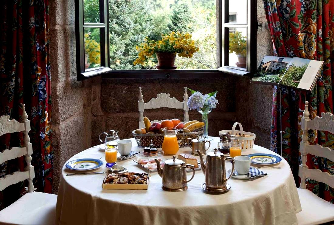 Así se desayuna en Pazo de Bentaces. Foto: Pazo de Bentaces.