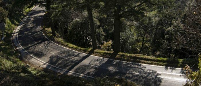 Un tramo de las carreteras que encontramos cruzando el Montseny.