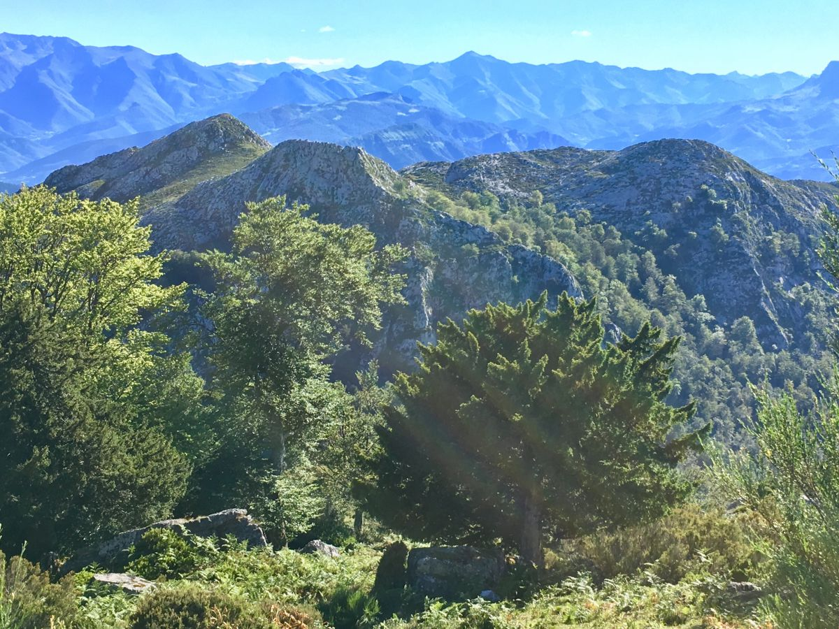 Vistas desde la atalaya de la Breña de los Tejos, Cantabria.