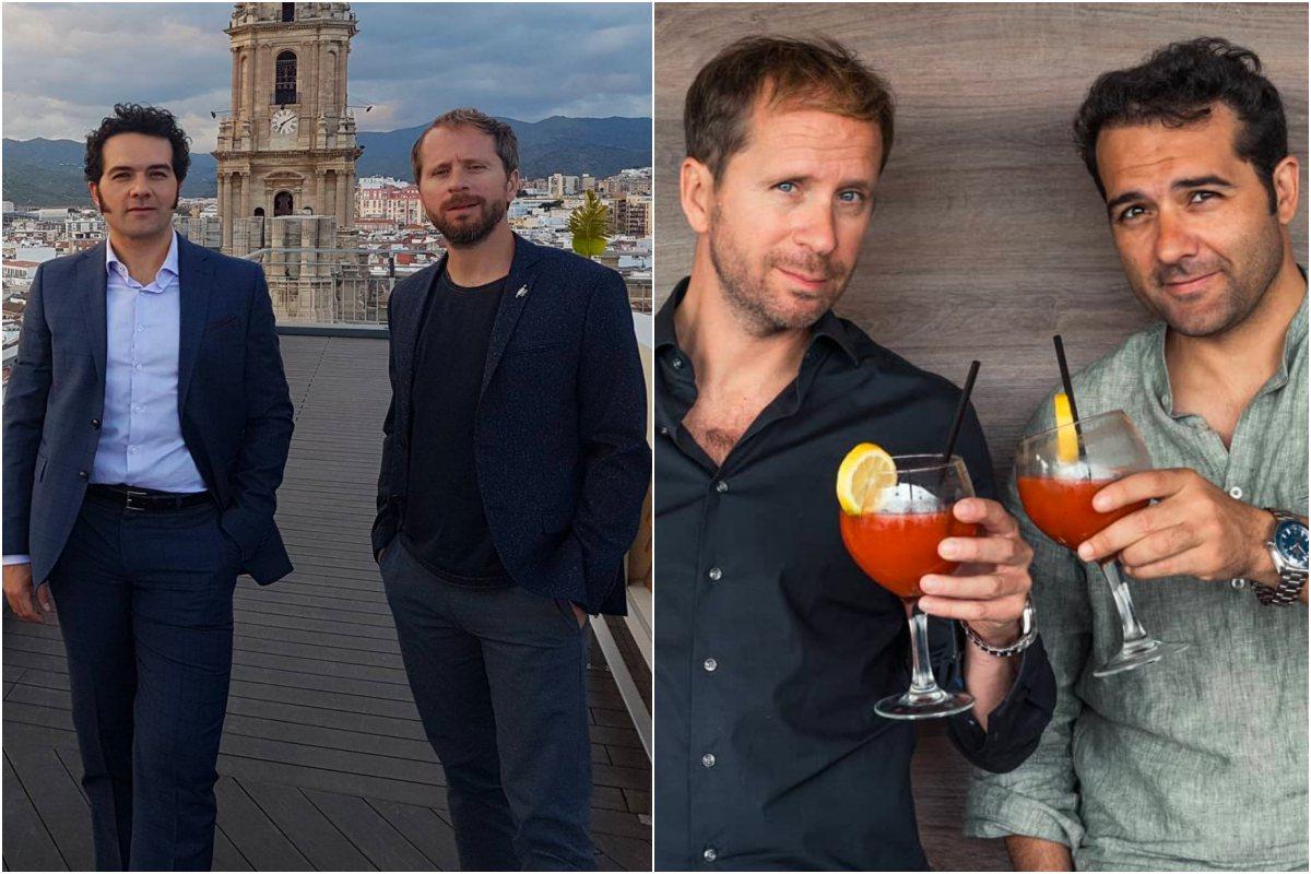 """La pareja de actores durante el Festival de Málaga. A la derecha, """"Compadres & Bloody Maries"""". Foto: Instagram"""