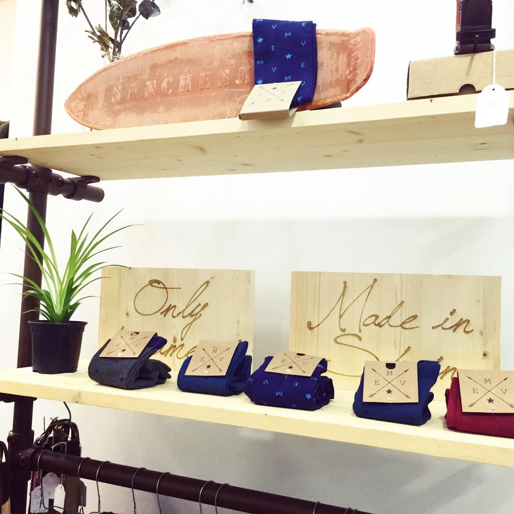 Detalle de los calcetines de El Mercado de la Vida. Foto: Facebook