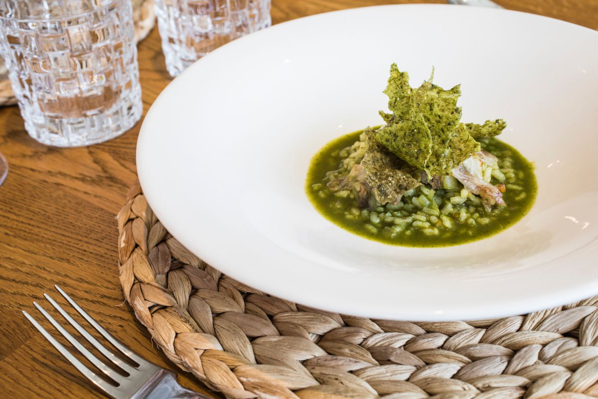 La versión de de arroz con acelgas del restaurante 'La Marítima', en Valencia.