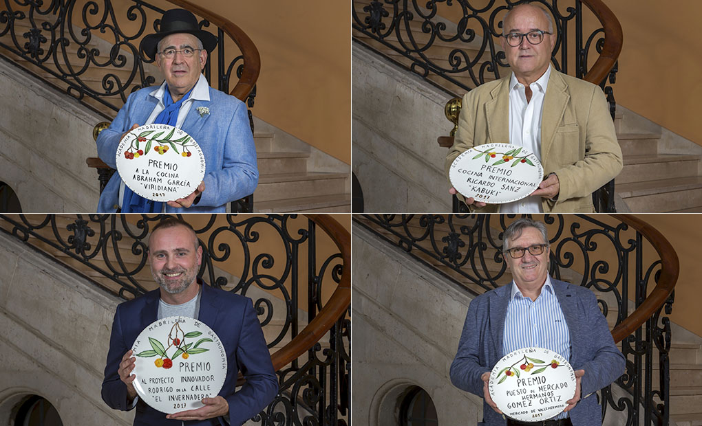 II Premio Gastronomía Madrid. Abraham García, Ricardo Sanz, Rodrigo de la Calle e Higinio Gómez. Foto: David de Luis