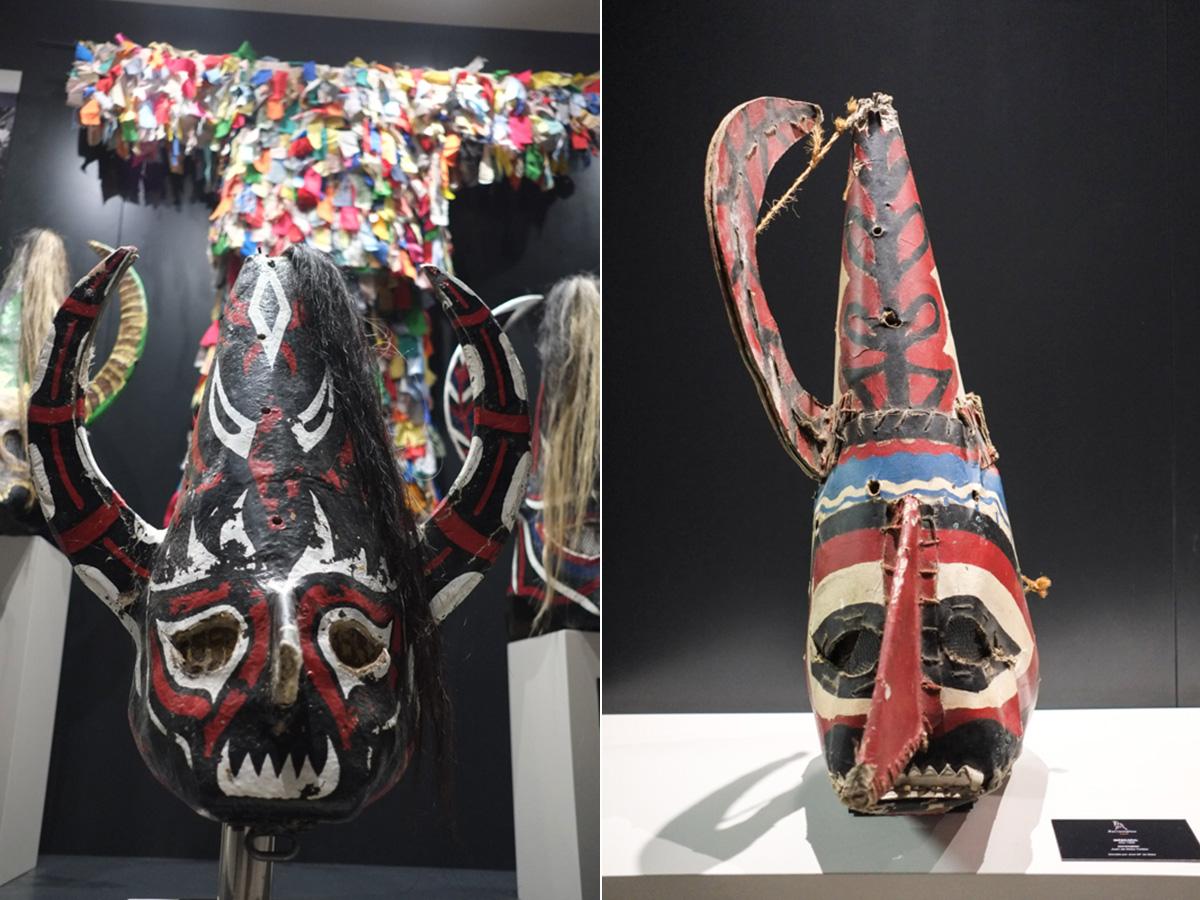 La máscara puede llegar a pesar hasta 14 kilos.