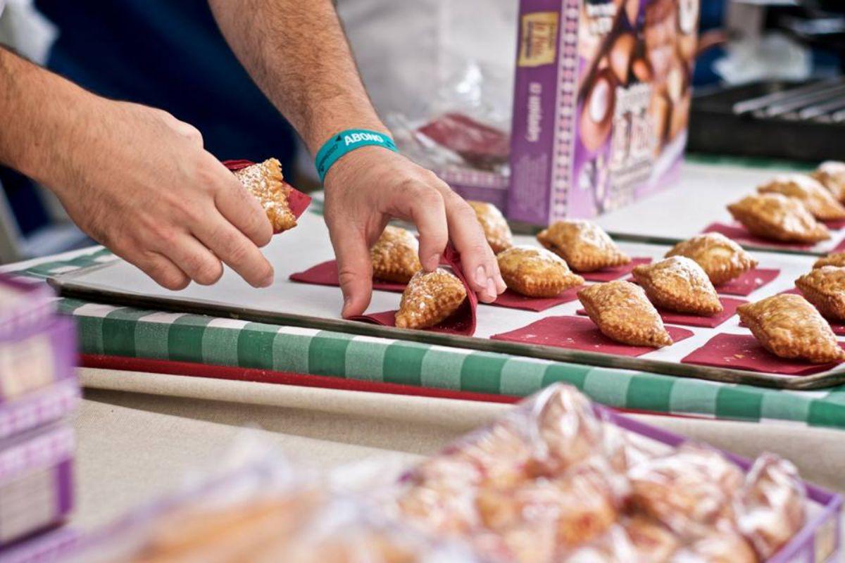Los dulces llamados fardelejos que dan nombre al festival Fárdelej, de Arnedo (La Rioja).