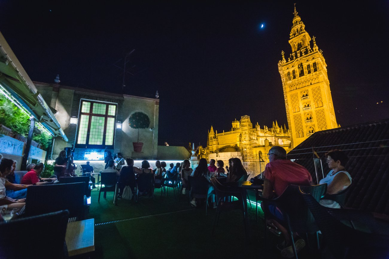 Planes Sevilla: terraza del Hotel Doña María
