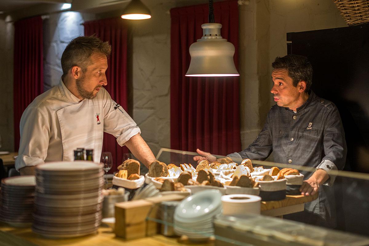 Diego Valdivieso y Oscar Vila, los dueños del restaurante.