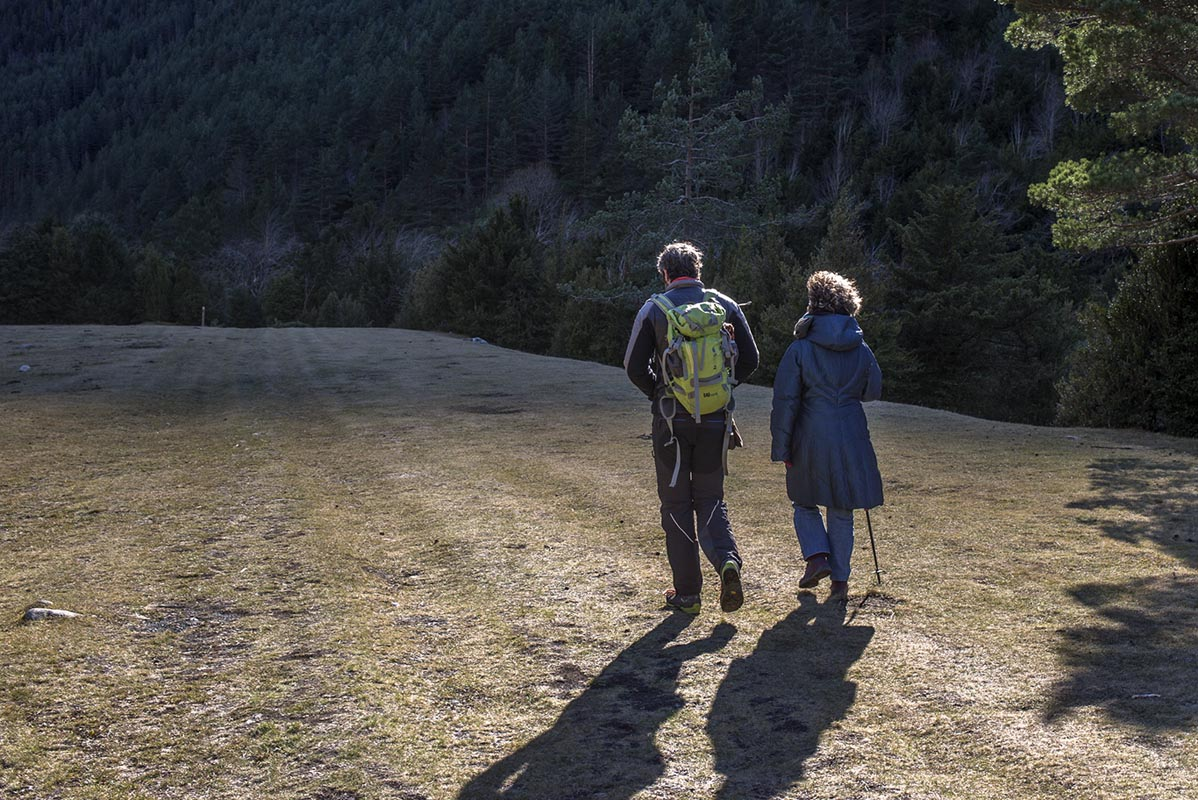 El regreso ofrece una perspectiva muy diferente gracias al aire pirenaico.