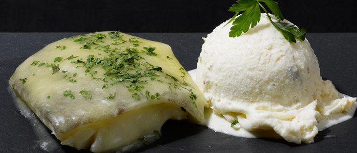 Helado de bacalao, original y perfecto para acompañar un rico plato de este pescado tan bilbaíno.
