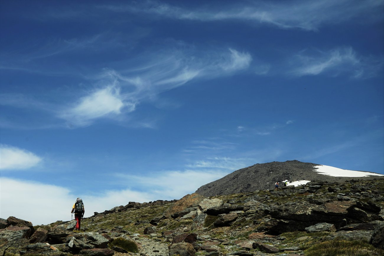 Ascenso al Mulhacén: Loma del Mulhacén