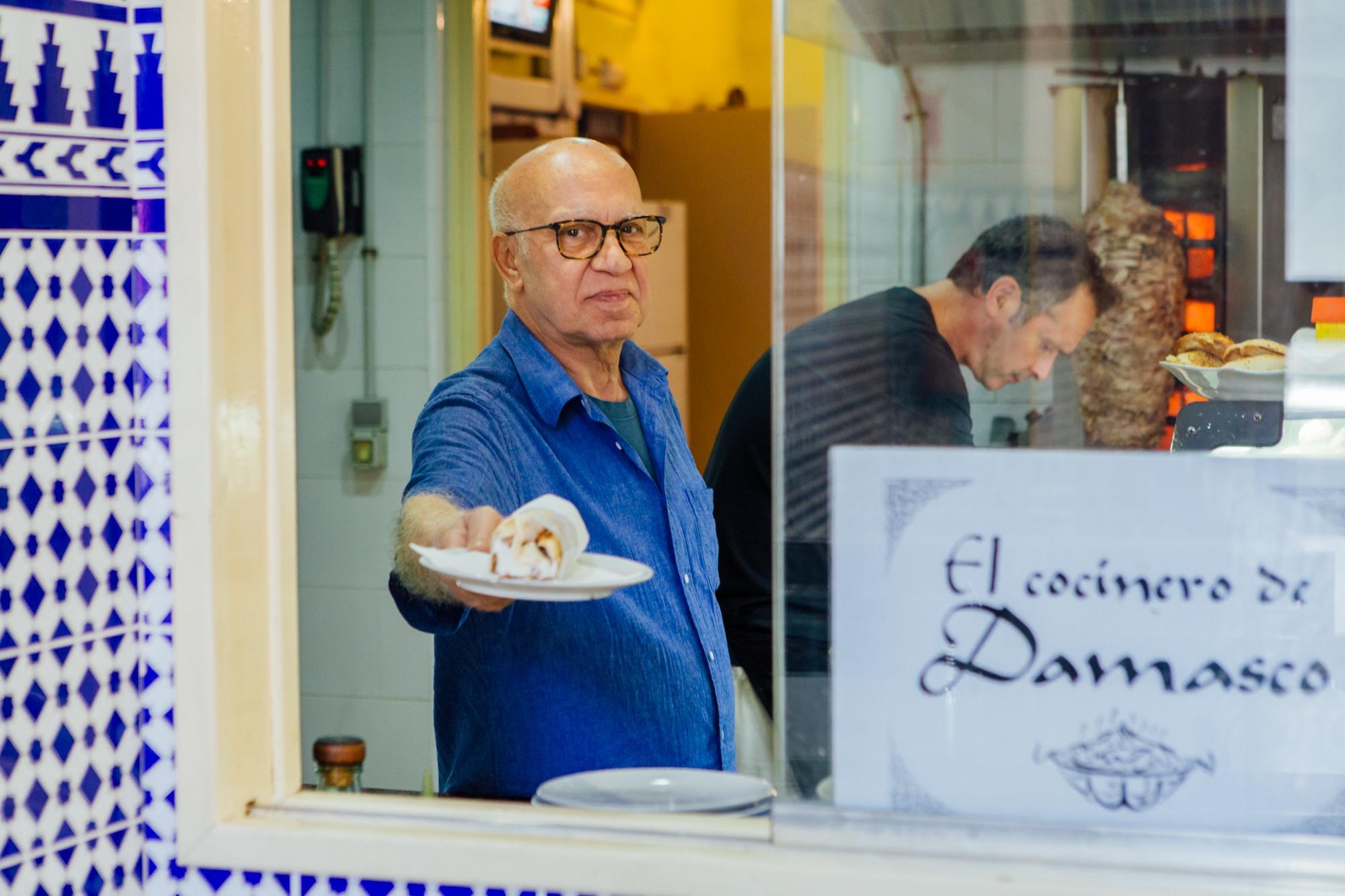 Salem, el propietario de 'El Cocinero de Damasco'.
