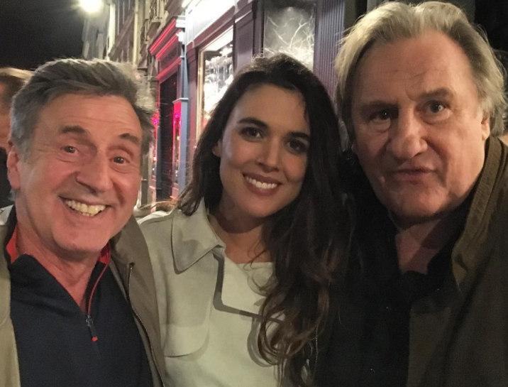 Adriana Ugarte, Daniel Auteil y Gerard Depardie