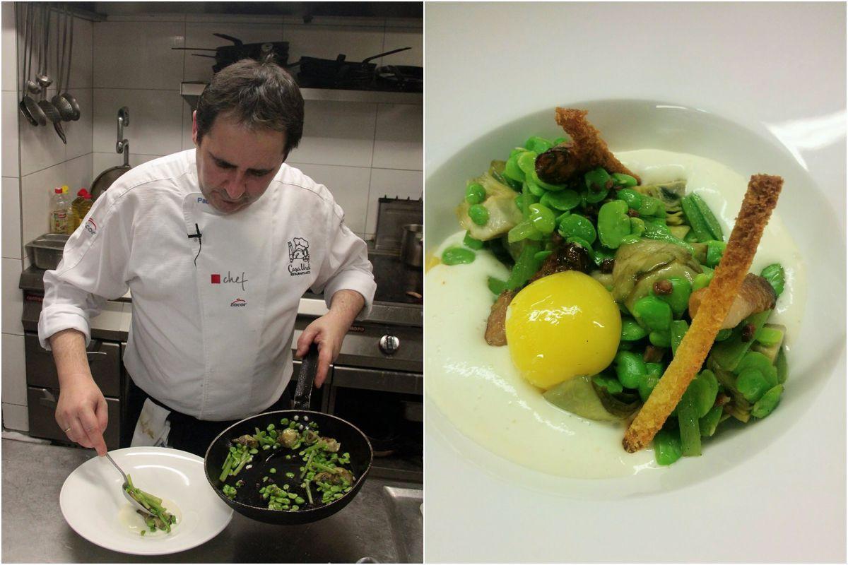 Las verduritas de temporada cocinadas con primor por Pablo Loureiro