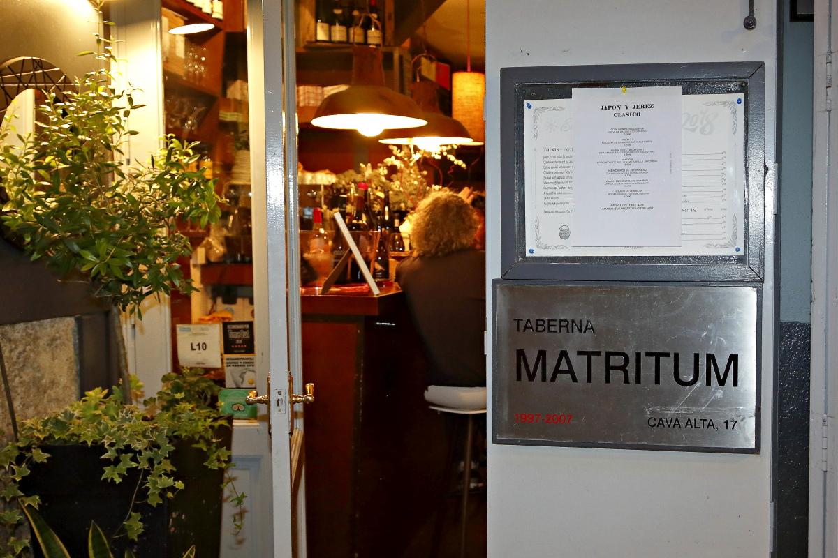 La entrada al restaurante Matritum, en Madrid.