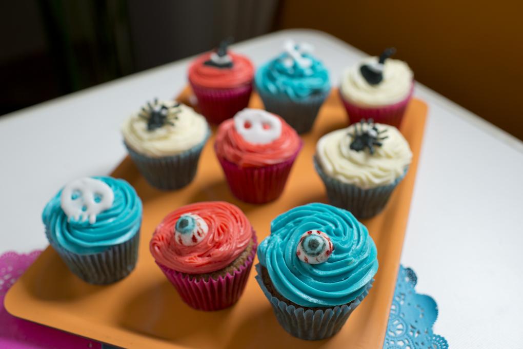 Surtidos de cupcakes.