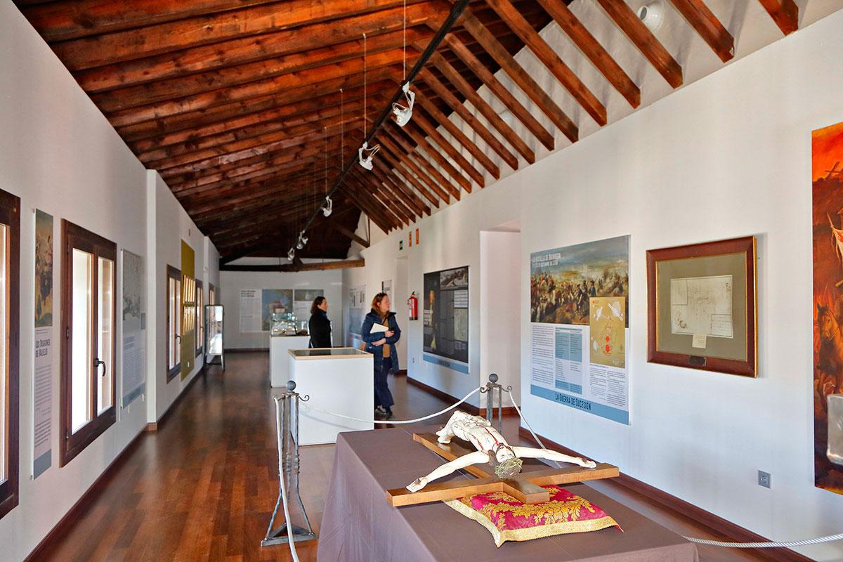 En el Museo de Brihuega uno puede remontarse a la historia bélica del pueblo.