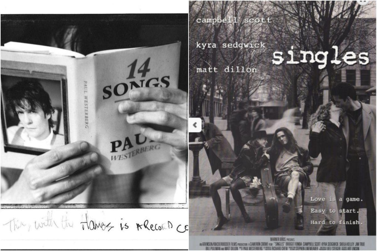 Algunas de las mejores canciones de Westerberg y la película 'Singles', de culto noventero. Fotos: Facebook.