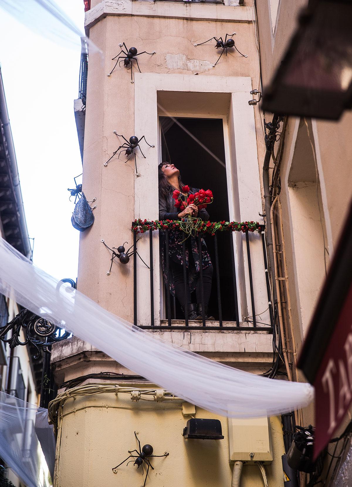 El Tubo, Zaragoza: Fachada de 'El hormiguero azul'. Foto: Raquel Jiménez