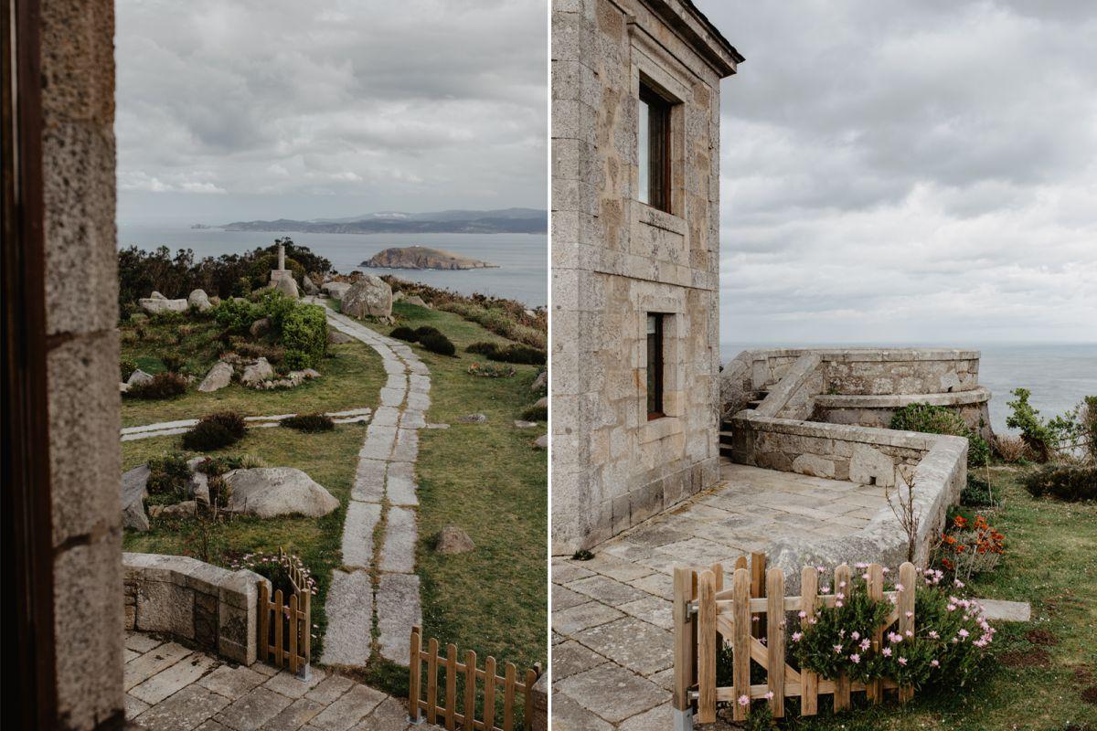 Espacios y vistas exclusivas desde el hotel Semáforo de Bares, en Mañón, A Coruña.
