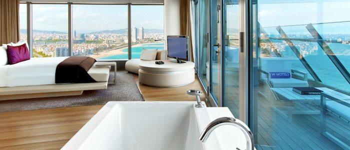 Suite Wow del hotel W de Barcelona.