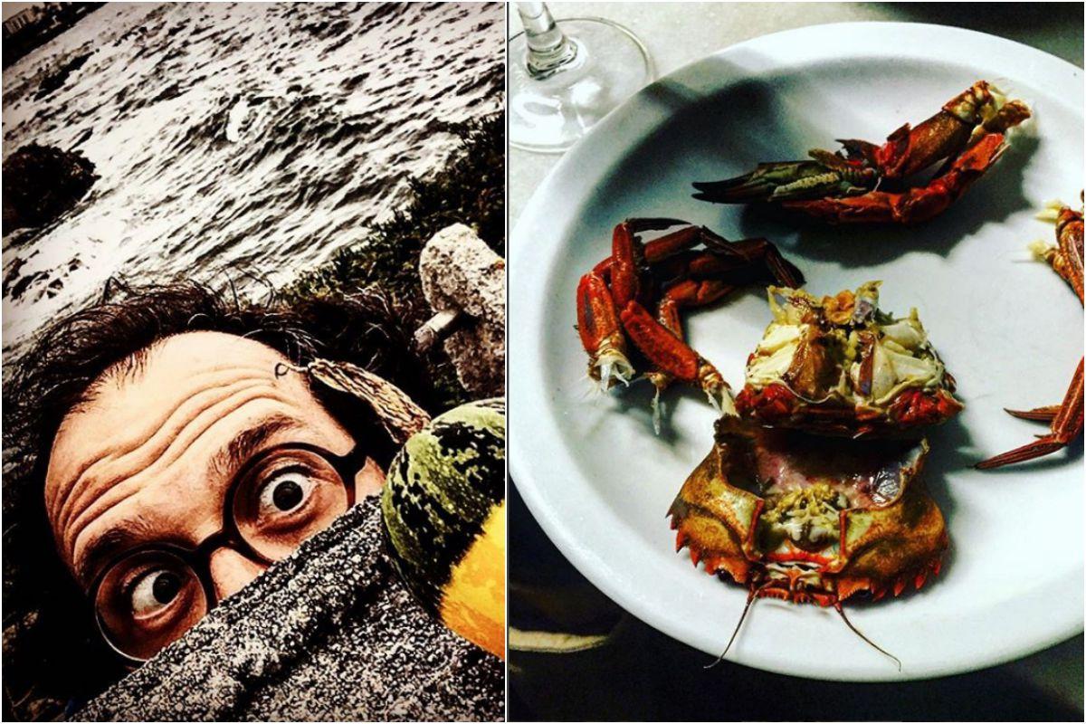En Galicia, tierra de meigas, y a punto de hincarle el diente a este plato en Santiago de Compostela. Fotos: Instagram.