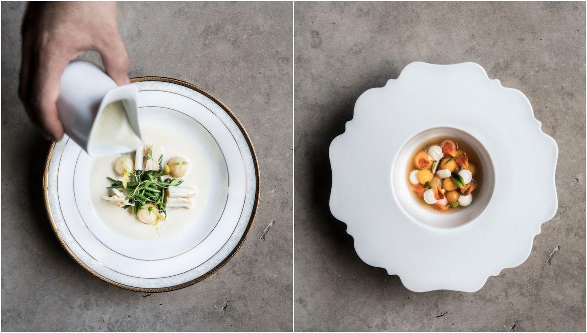 Los platos del menú de temporada de 'Ricard Camarena' parecen sacados de un museo. Fotos: cedidas.