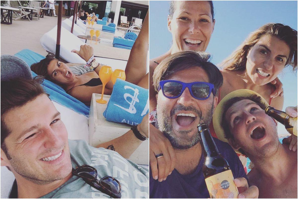 En Ibiza durante las vacaciones. Fotos: Instagram.